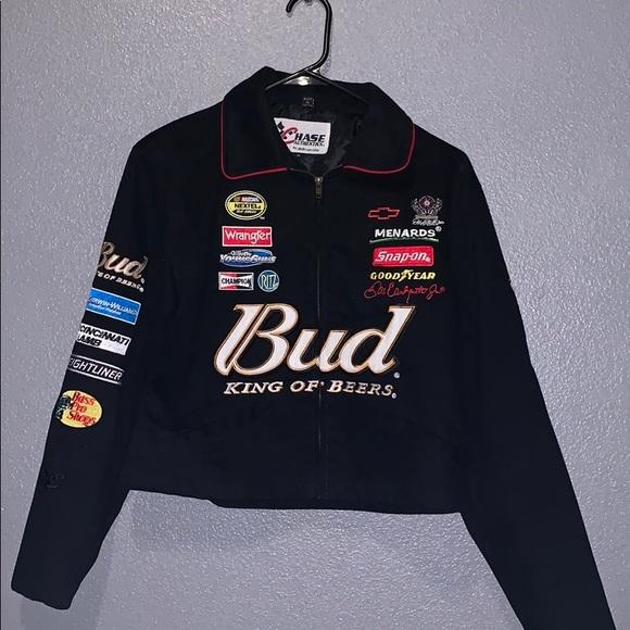 Budweiser Jackets Coats Race Car Jacket Poshmark